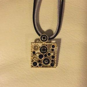 ***Lia Sophia Gold & Black Necklace